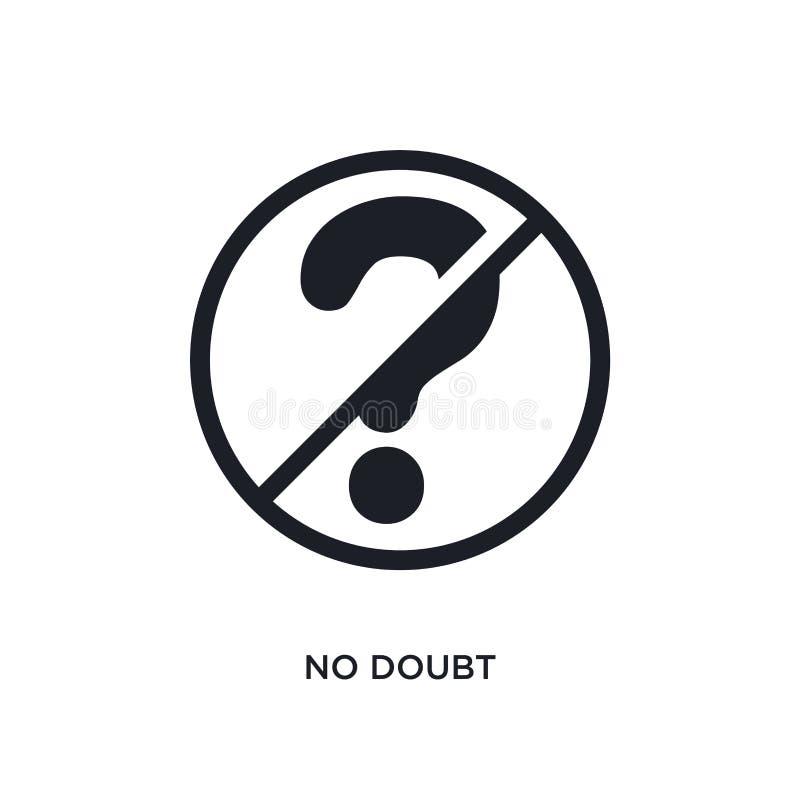 czerni odosobniona wektorowa ikona niewątpliwie prosta element ilustracja od ruch?w drogowych znak?w poj?cia wektoru ikon niewątp royalty ilustracja