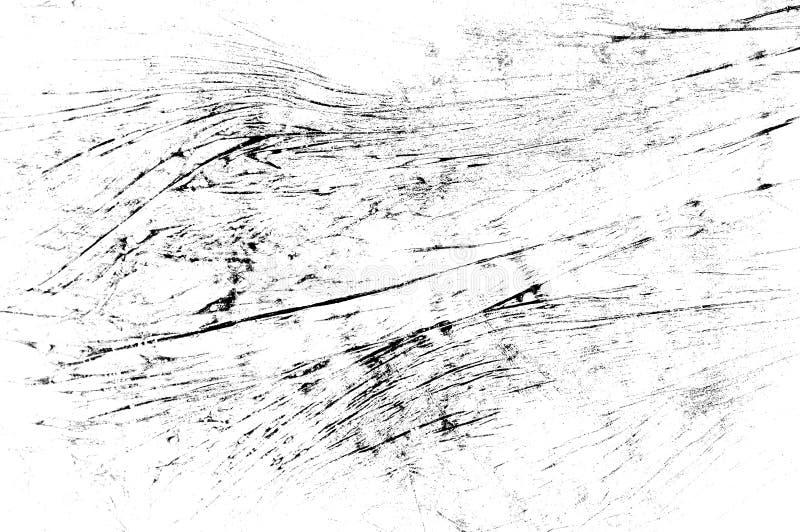 Czerni porysowana tekstura na białym tle obraz royalty free