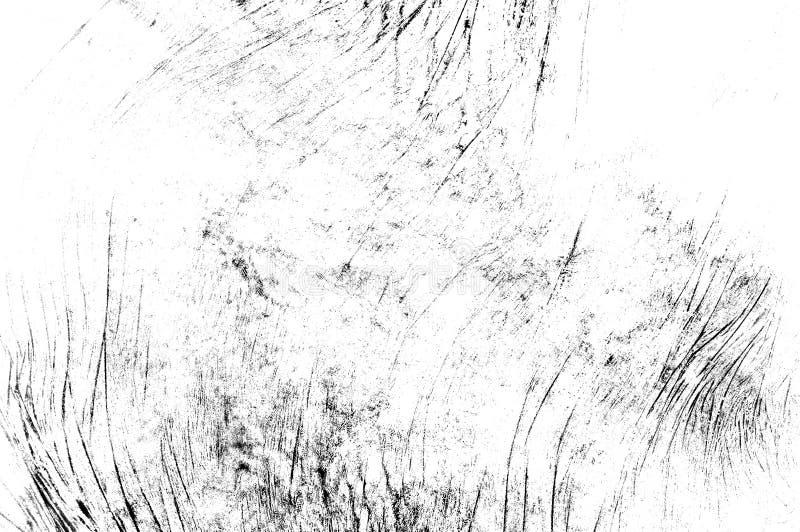 Czerni porysowana tekstura na białym tle zdjęcia royalty free