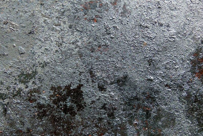 Czerni starego ośniedziałego grunge metalu tekstury tło i siwieje obraz stock