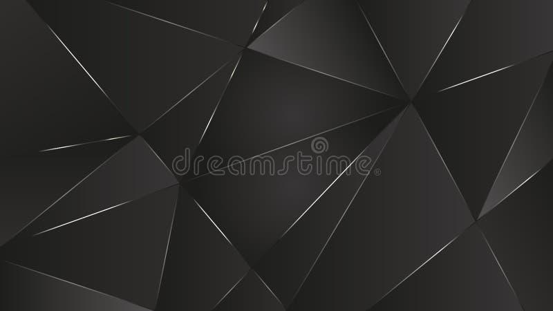 czerni wektorowej grafiki światła zmielona abstrakcjonistyczna tapeta royalty ilustracja