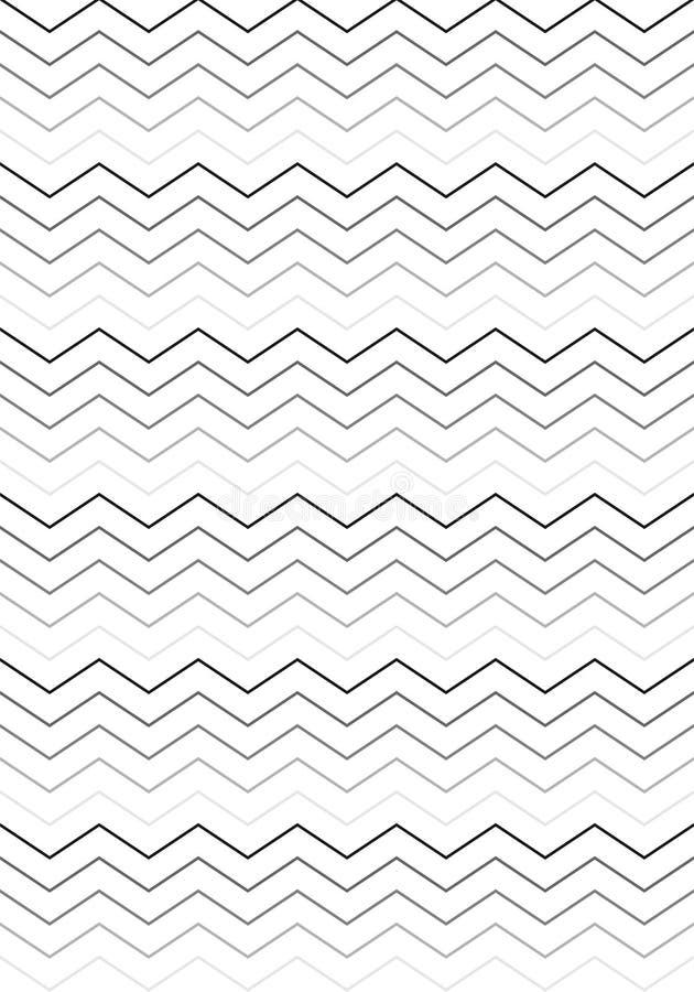 Czerni & White Stripes wzór royalty ilustracja
