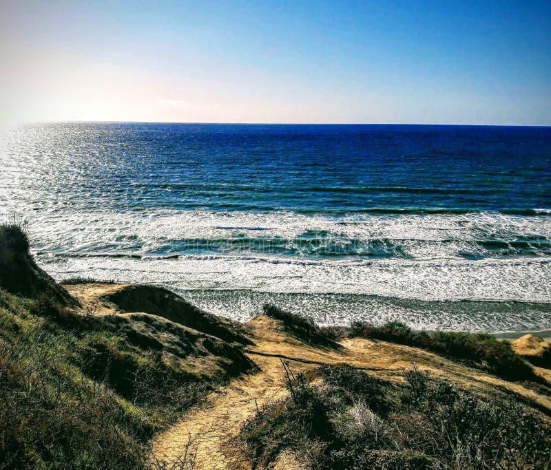 Czernie Wyrzucać na brzeg, San Diego, Kalifornia zdjęcia stock