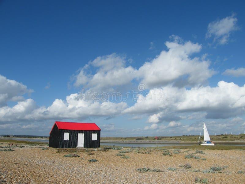 czerwień łódkowaty dach zdjęcia royalty free