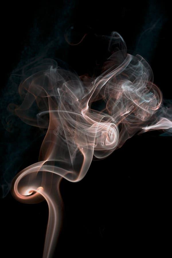 czerwień dym fotografia stock