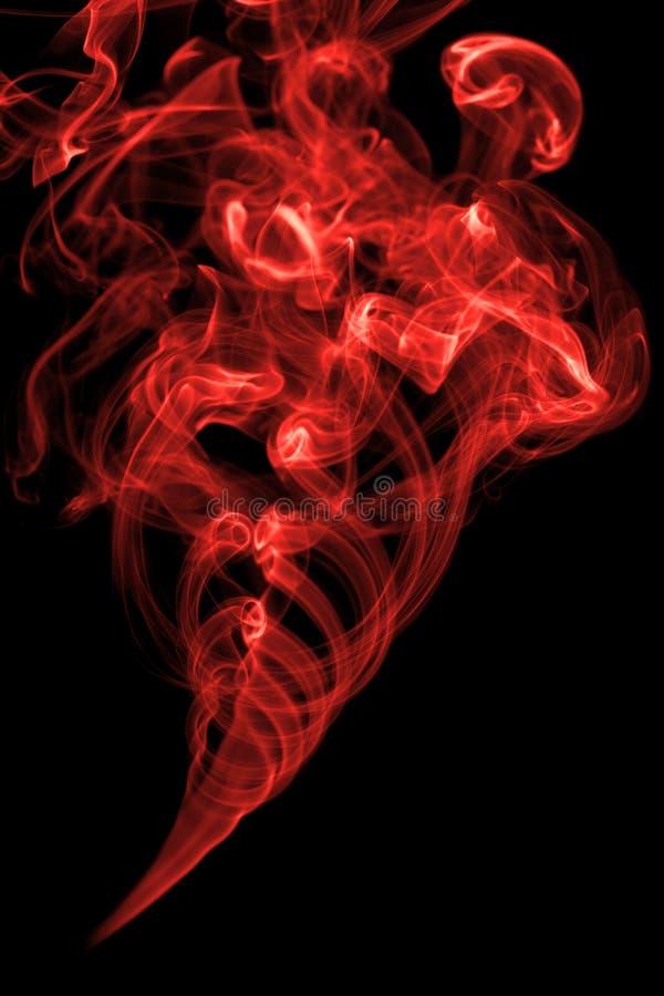 czerwień dym fotografia royalty free