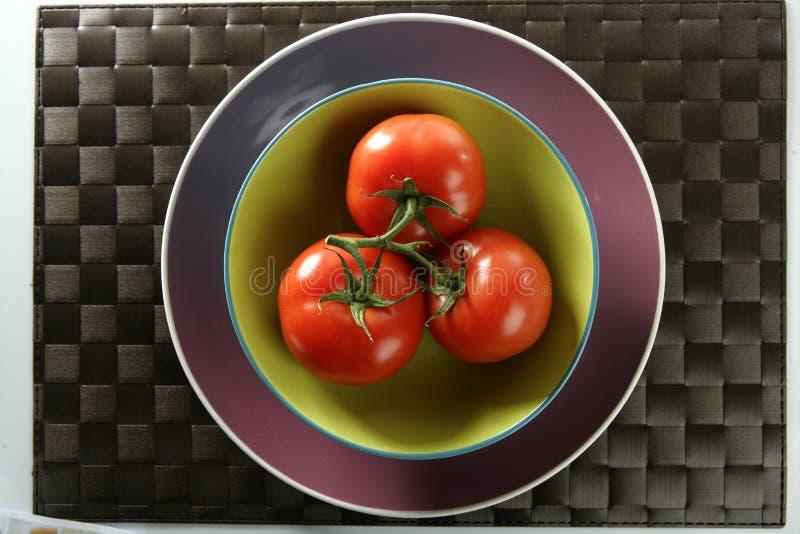 czerwień gałęziaści pomidory trzy zdjęcia stock