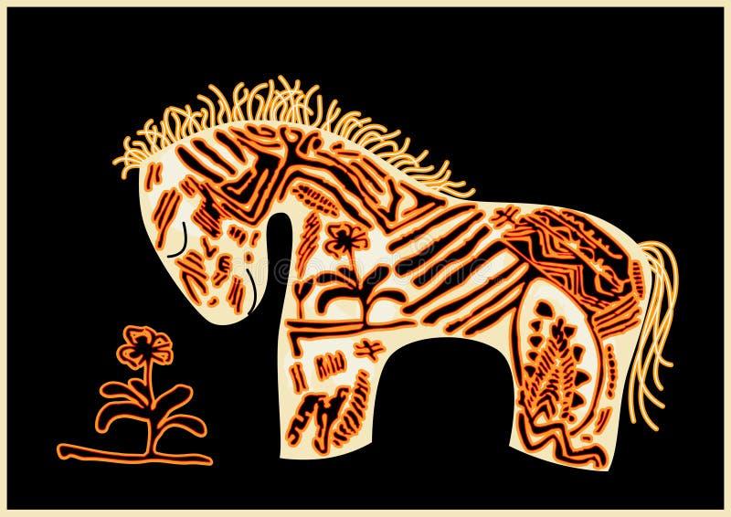 czerwień koński wektor ilustracja wektor