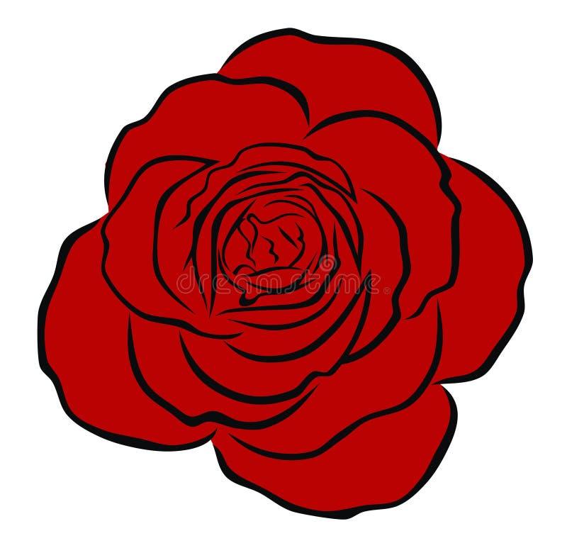 czerwień wzrastał royalty ilustracja