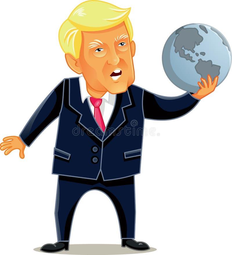 Czerwiec 16 2017, Donald atutu Wektorowa karykatura royalty ilustracja