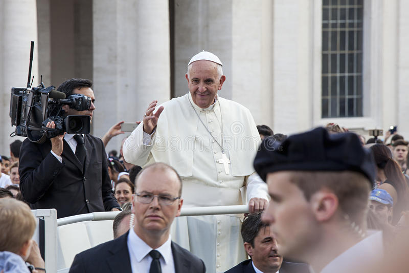 Czerwiec 14, 2015 Ecclesial kongres diecezja Rzym fotografia royalty free