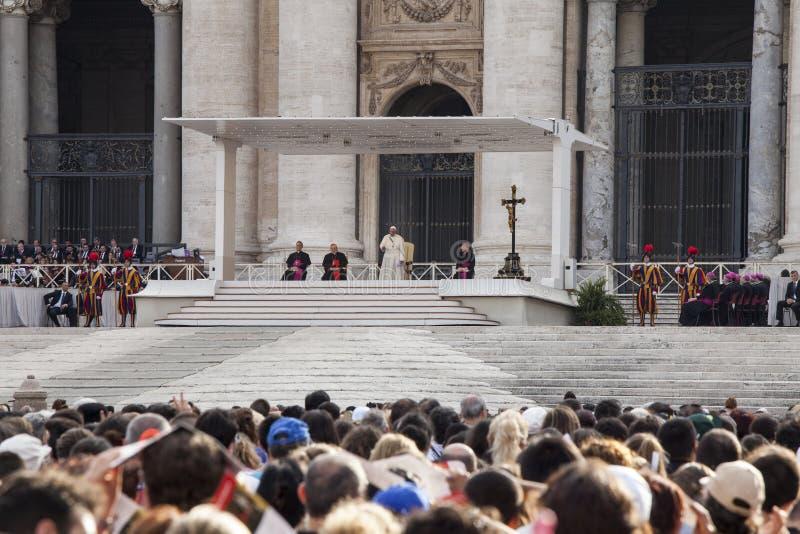 Czerwiec 14, 2015 Ecclesial kongres diecezja Rzym obrazy royalty free