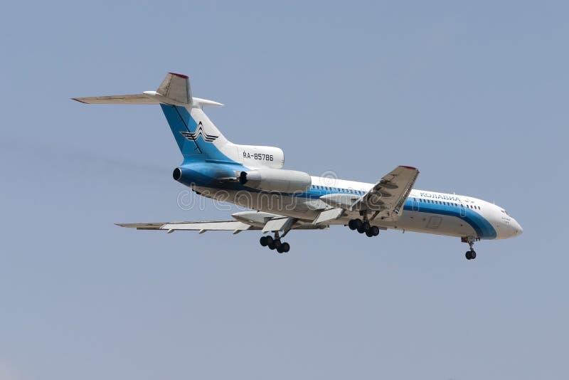 13 2005 Czerwiec: Kolavia Tupolev Tu-154M obrazy royalty free