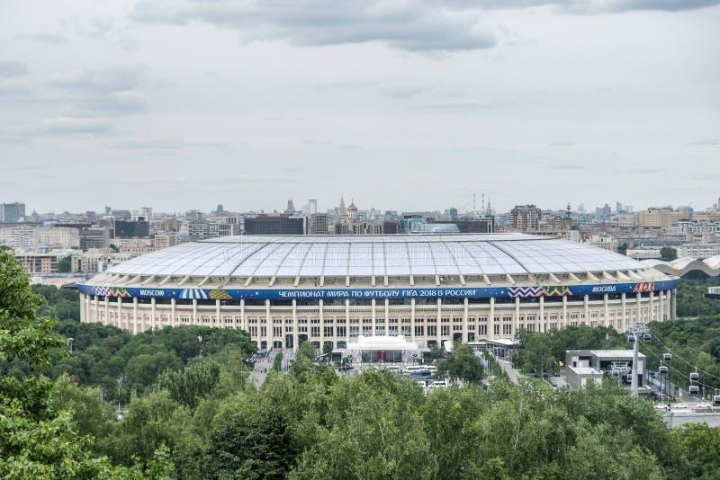 2018 Czerwiec 14th Moskwa, Rosja Pierwszy dopasowanie FIFA 2018 Światowy Fo obrazy royalty free