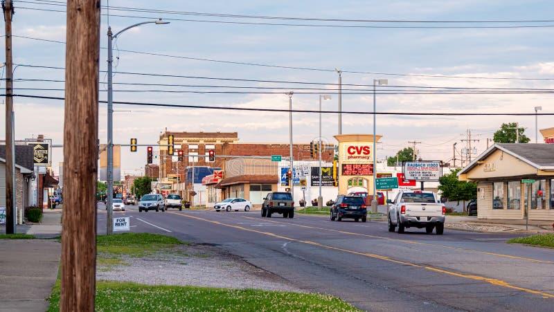 Czerwiec 18, 2019 uliczny widok w Frankfort Kentucky, FRANKFORT -, usa - zdjęcia royalty free