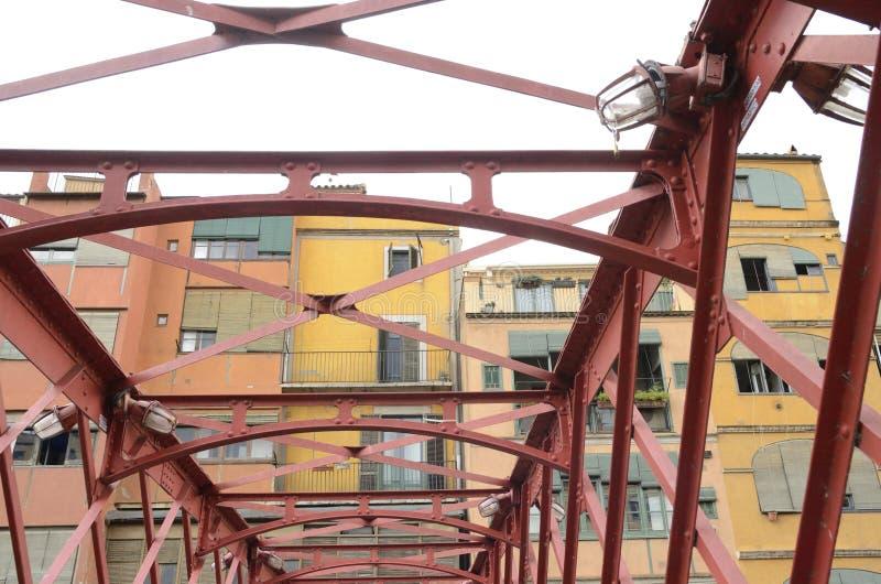 czerwieni żelaza most obraz stock