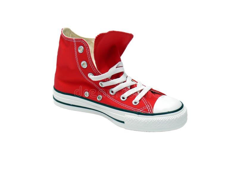 czerwieni buta sport obraz stock