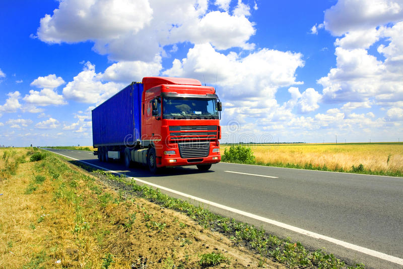 czerwieni ciężarówka zdjęcie stock