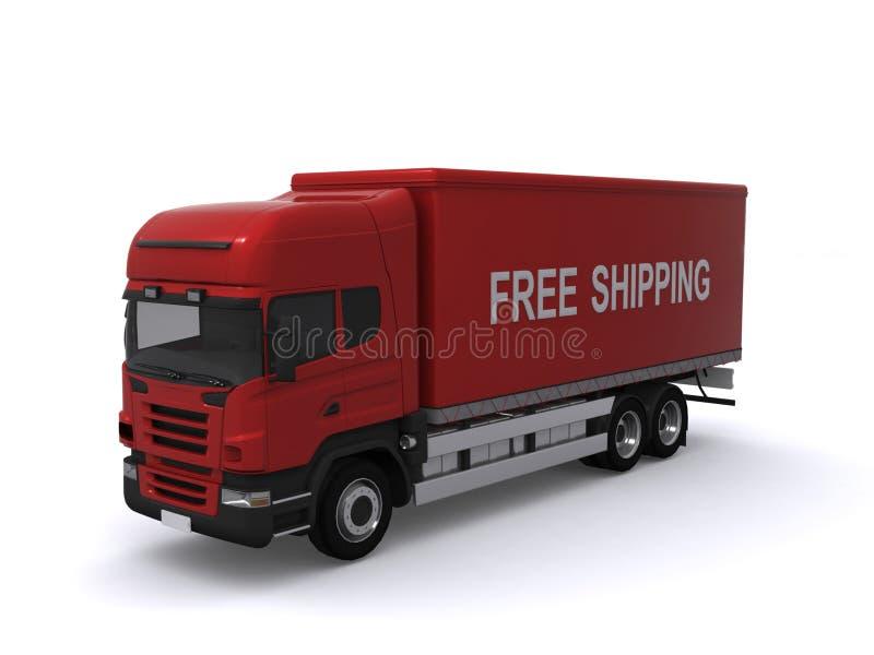 czerwieni doręczeniowa ciężarówka ilustracja wektor
