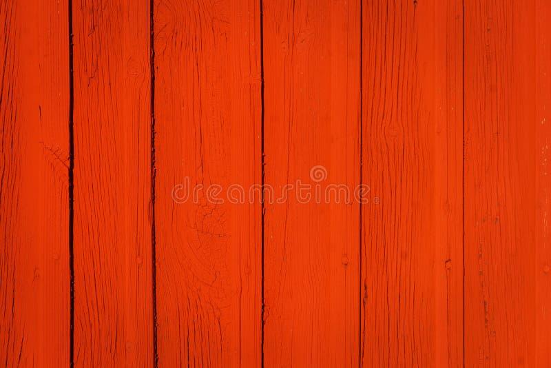 czerwieni drewniany ścienny fotografia stock