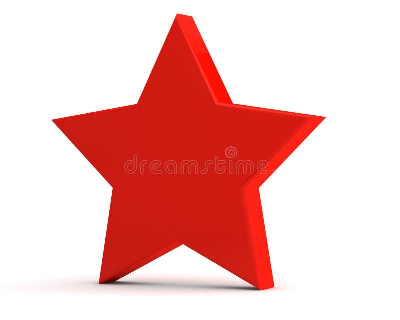 czerwieni gwiazda royalty ilustracja