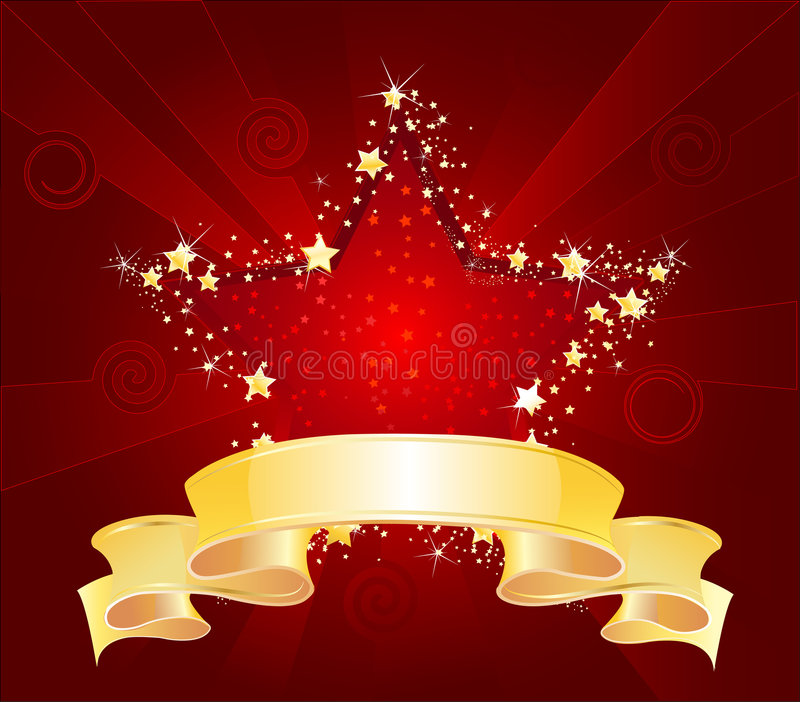 czerwieni gwiazda ilustracja wektor