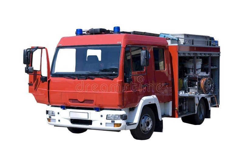 czerwieni pożarnicza ciężarówka obrazy stock