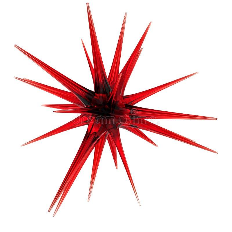 czerwieni szklana gwiazda royalty ilustracja