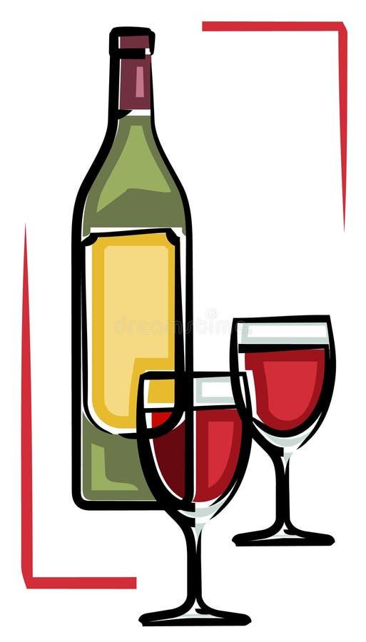 czerwieni wektoru wino ilustracja wektor