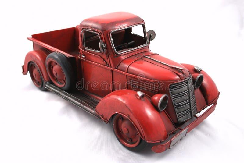 czerwieni zabawki ciężarówka fotografia stock