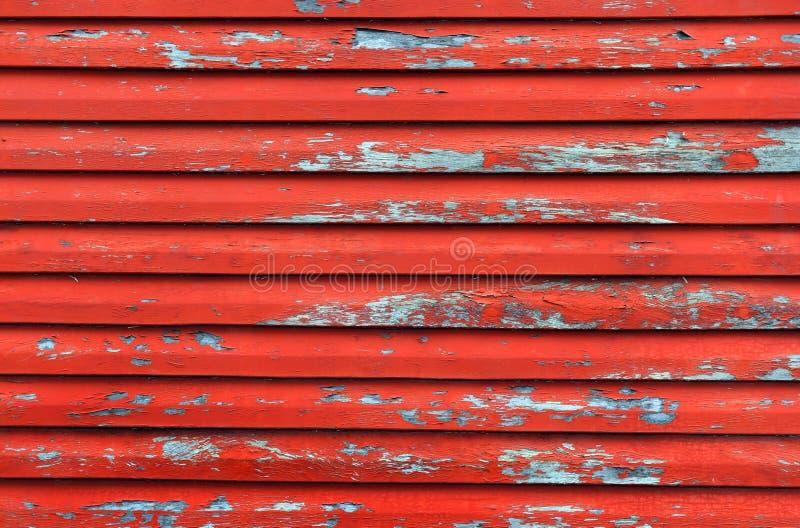 czerwona ściana drewna obraz stock