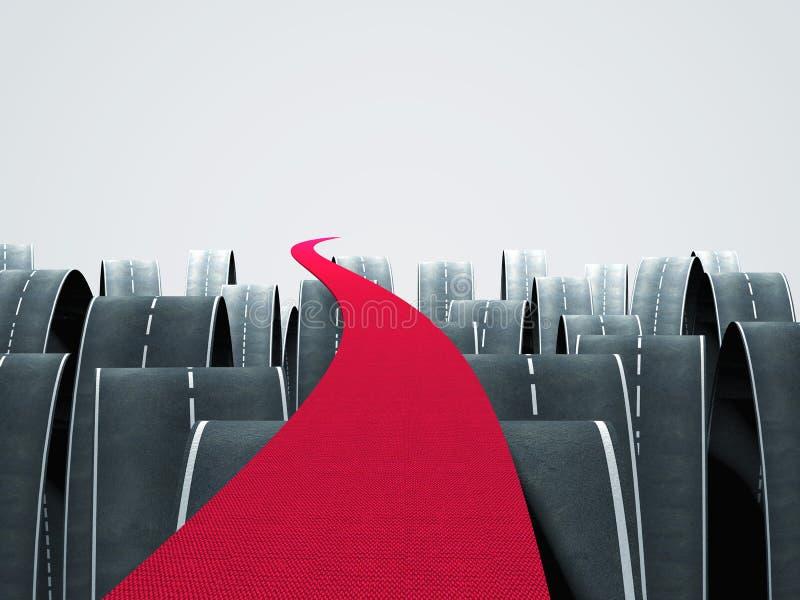 Czerwona ścieżka ilustracji