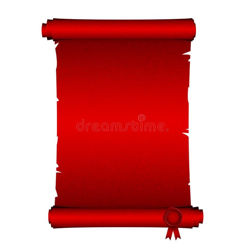 czerwona ślimacznica royalty ilustracja