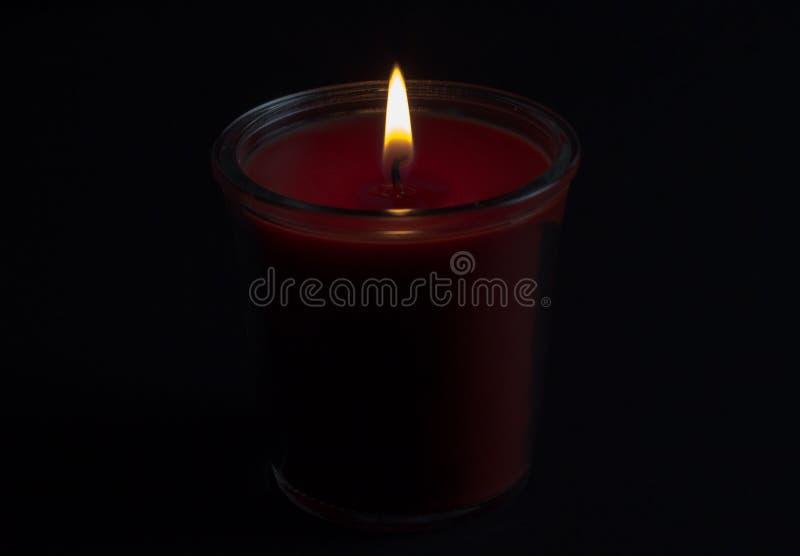 Czerwona świeczka, valentines dzień, dekoracja, symbol obrazy stock