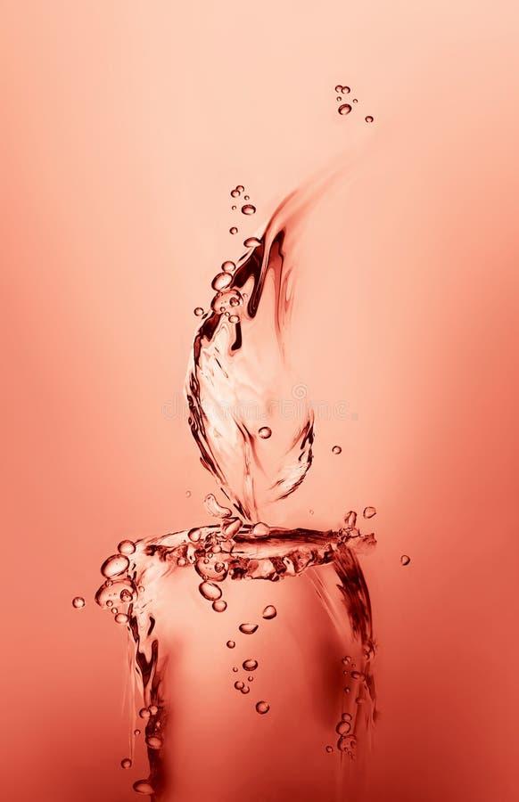 czerwona świeczki woda fotografia stock