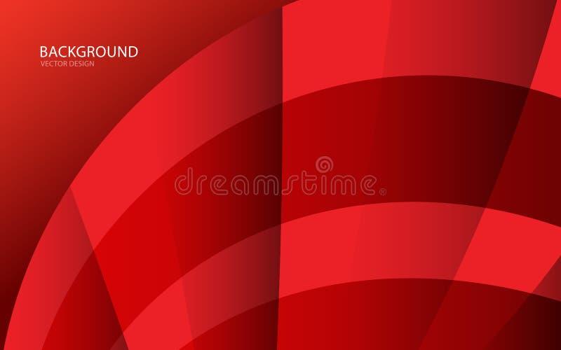 Czerwona abstrakcjonistyczna tło wektoru ilustracja wallah Sieć sztandar pokrywa Karta struktura wally Ulotka royalty ilustracja