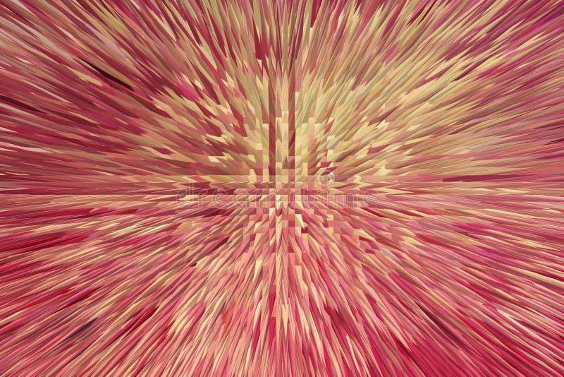 Czerwona abstrakcjonistyczna tekstura z ostrymi cierniami fotografia royalty free