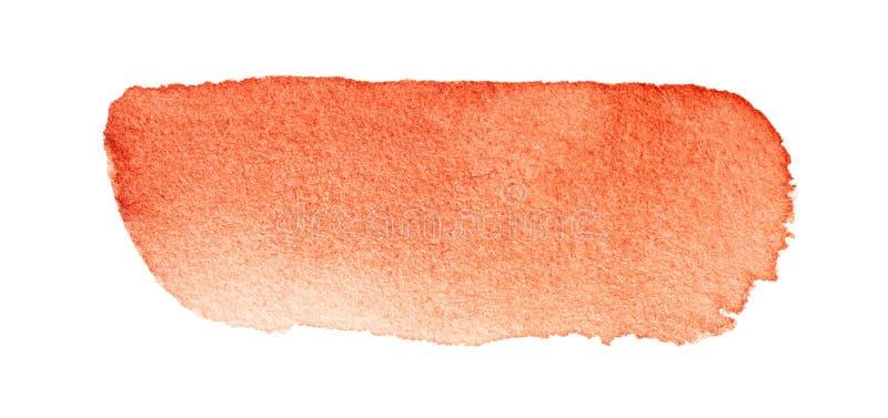 Czerwona akwareli muśnięcia uderzenia ręka rysująca obrazy royalty free