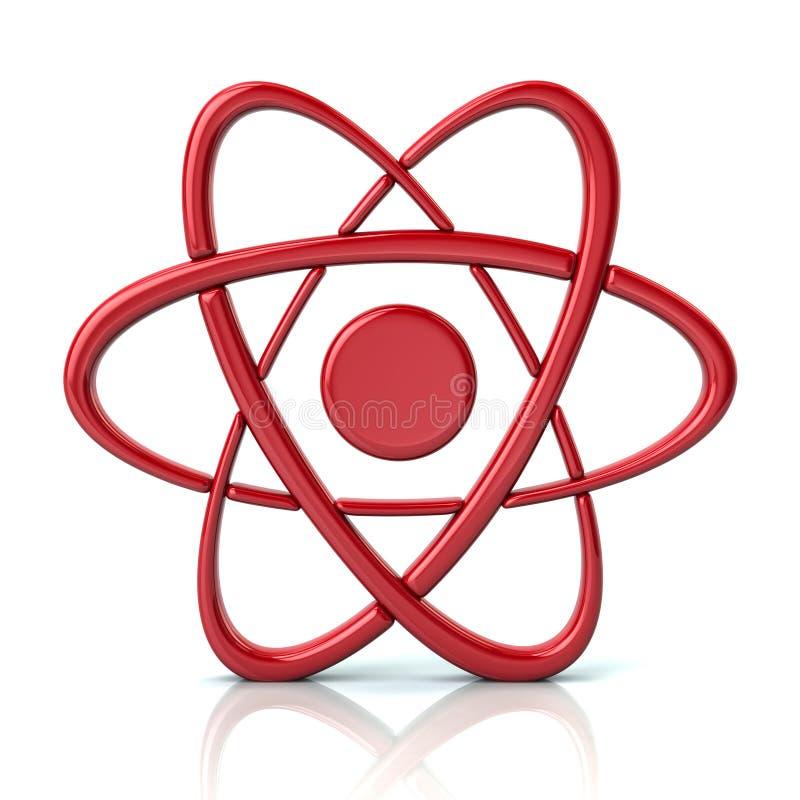 Czerwona atom ikona ilustracja wektor