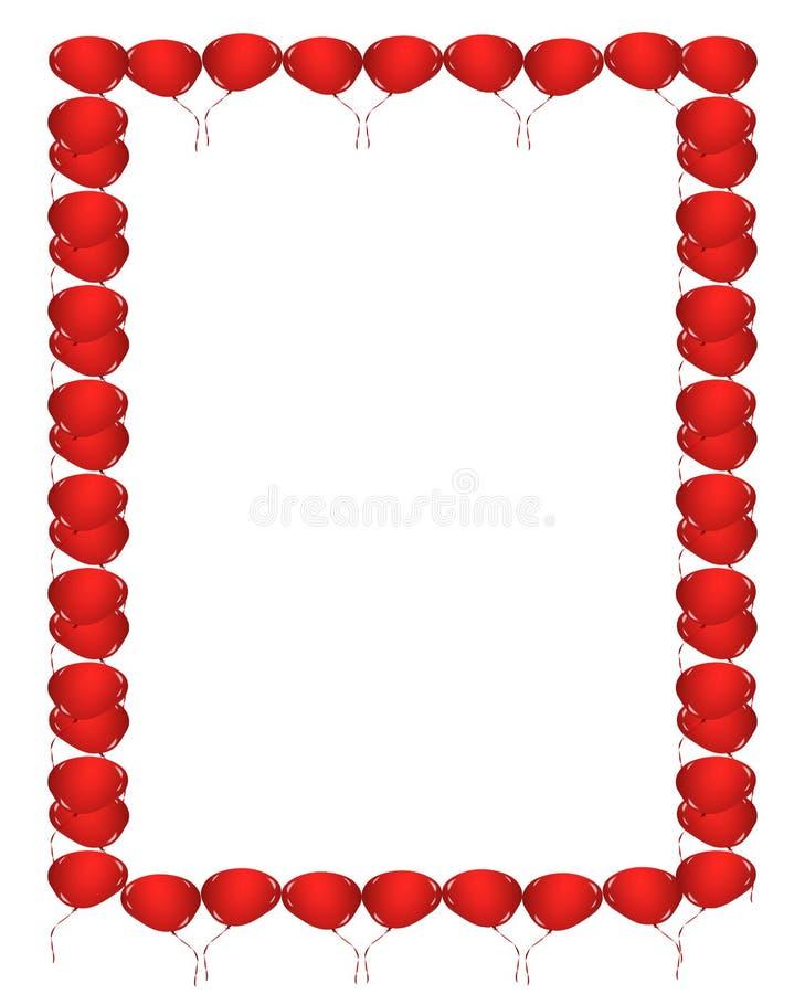 Czerwona balon granica ilustracja wektor