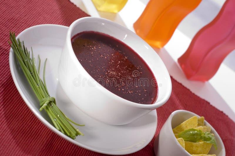 czerwona barszczowa zupy obrazy stock