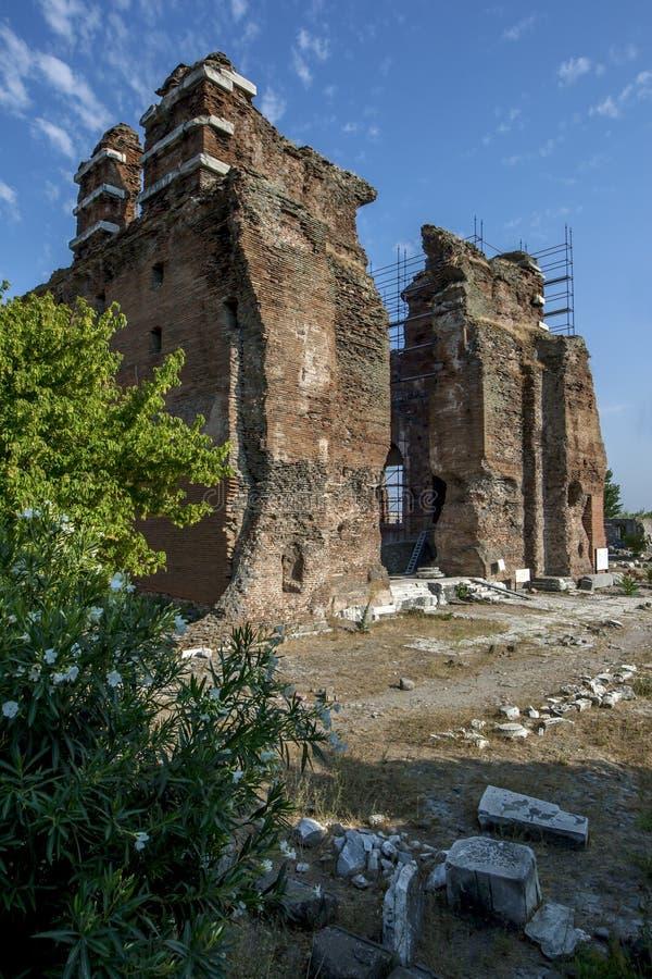 Czerwona bazylika w Bergamie w Turcji obrazy royalty free