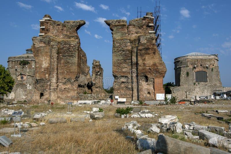 Czerwona bazylika w Bergamie w Turcji zdjęcia royalty free