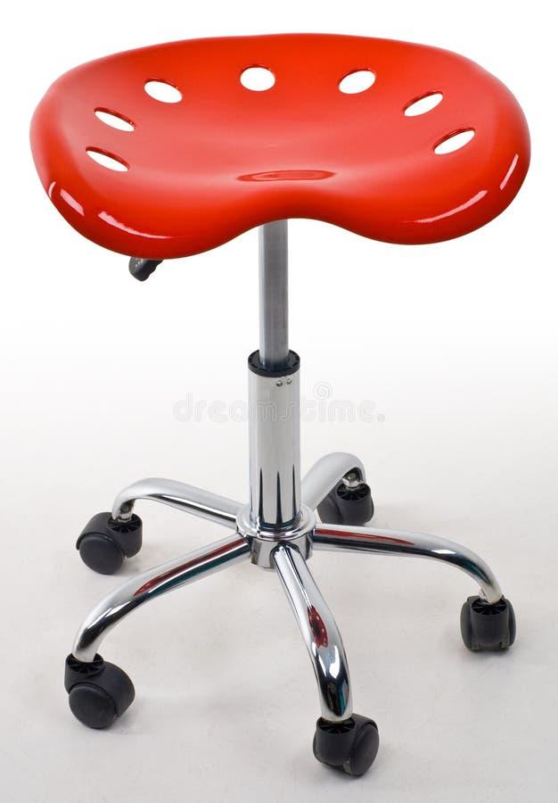 czerwona biurowych stolca zdjęcia stock