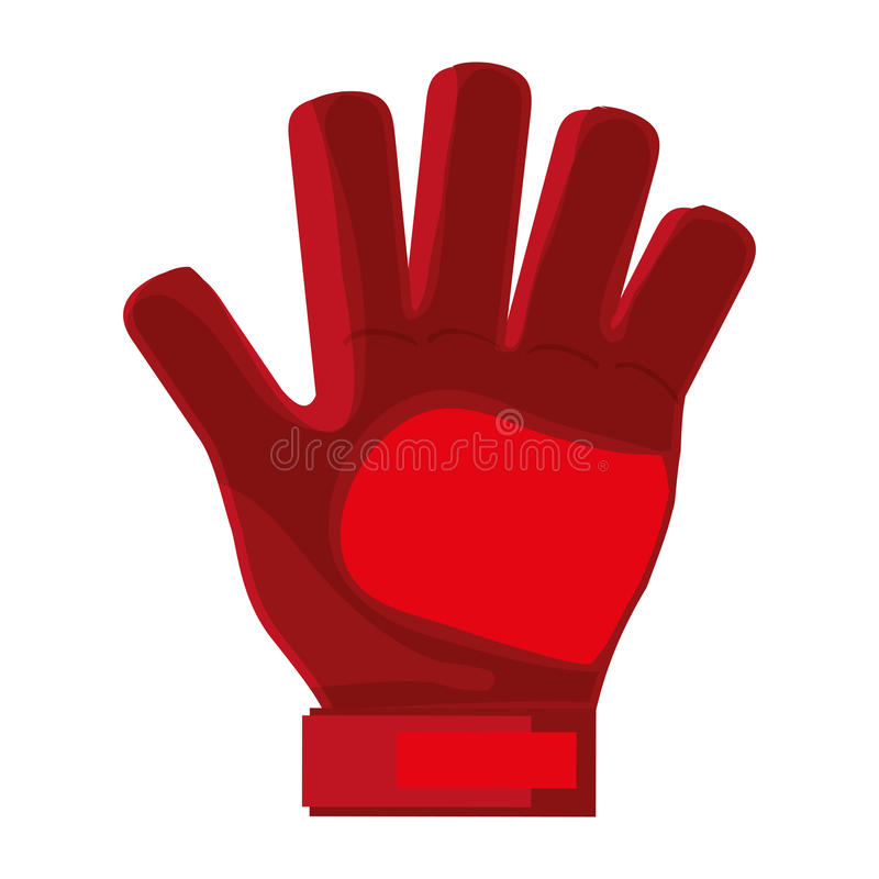 czerwona bramkarz rękawiczka ilustracji