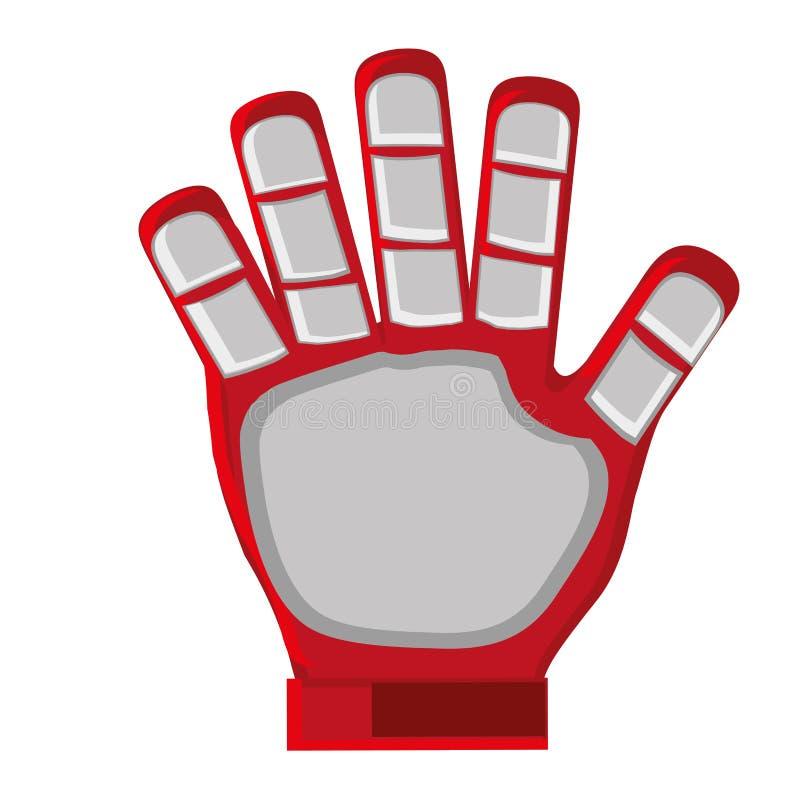 czerwona bramkarz rękawiczka ilustracja wektor