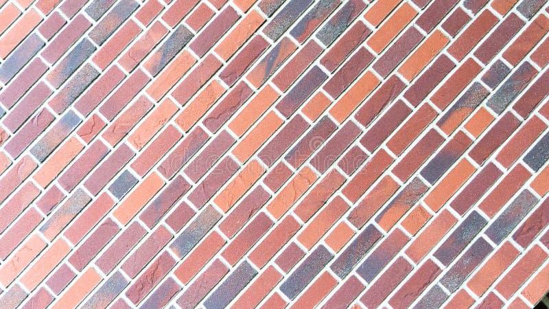 Czerwona brickstone ściana - krajobrazowy tryb obraz royalty free