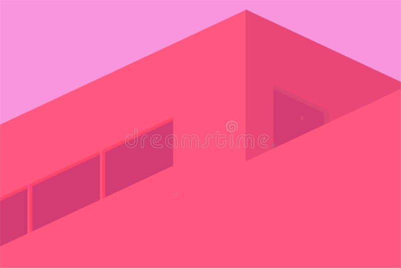 Czerwona budynku wektoru ilustracja fotografia royalty free