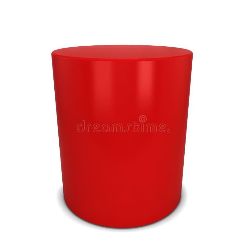 Czerwona butla ilustracja wektor