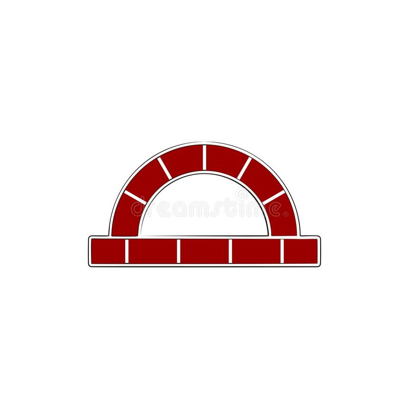 czerwona cegła, pa loga projekta inspiracja ilustracja wektor